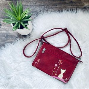 NWOT espe vegan leather crossbody purse